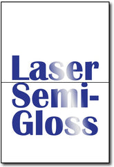 "A6 Cards Laser Semi-Gloss measure 4 5/8"" x 6 1/4""."