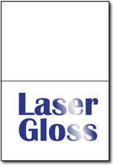 "A6 Cards Laser Gloss measure 4 5/8"" x 6 1/4""."