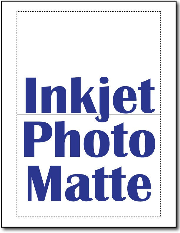 "90lb Microperforated Inkjet Photo Matte 5"" x 7""  Greeting Cards, Print-to-the-Edge."