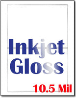 "10.5 mil Inkjet Gloss print to Edge Greeting card , size A6, measure(8 1/2"" x 11""), compatible with inkjet, full gloss"