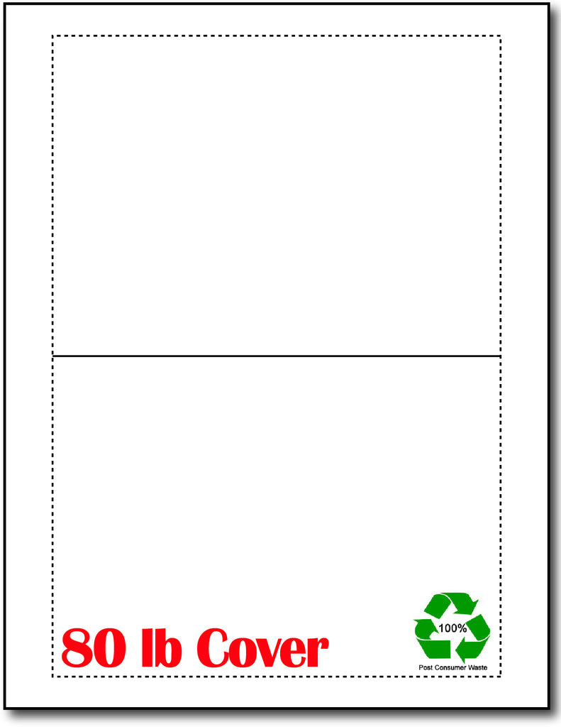 Blank Folding Cards - 5 X 7 | Print-to-Edge (80lb | Recycled)