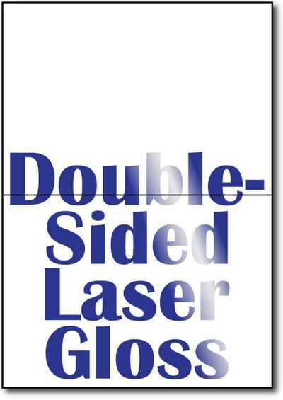 "80lb Microperforated Double Sided Laser Gloss 5"" x 7"" Greeting Cards."