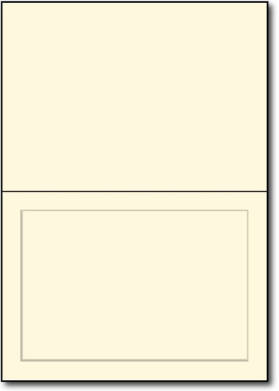 "65 lb Cream Panaled Greetng card, size A6 measure(6 1/4"" x 9 1/4""), compatible with copier, inkjet and laser, matte both sides"