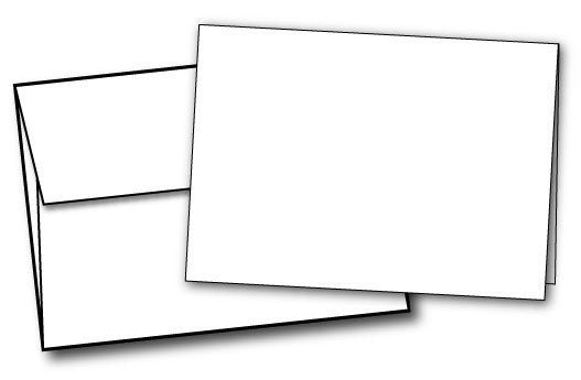 "5"" x 7"" 100LB Cards with Self Seal Envelopes"