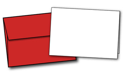 Greeting Card Paper - 5 X 7 | 80lb | White - With Red Envelopes
