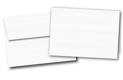 Cards And Envelopes - 5 X 7 / 80lb Cover - Blank | White | Linen