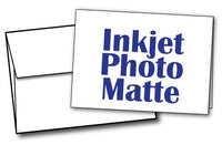 "5"" X 7"" - Blank Inkjet Photo Matte Card Sets - 40 Cards & Envelopes"