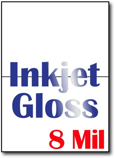 "8 mil Inkjet Gloss greeting cards, size A6, measure (5"" x 7"") , compatible  with inkjet, Full Gloss"
