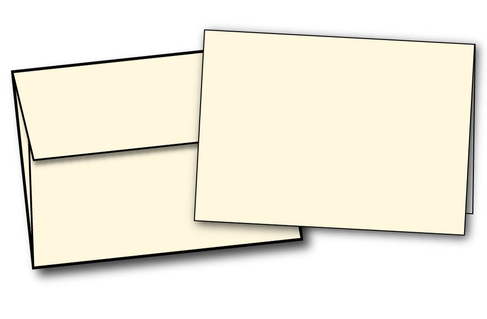 Cards And Envelopes - 5 X 7 / 80lb Cover - Blank | Cream | Linen