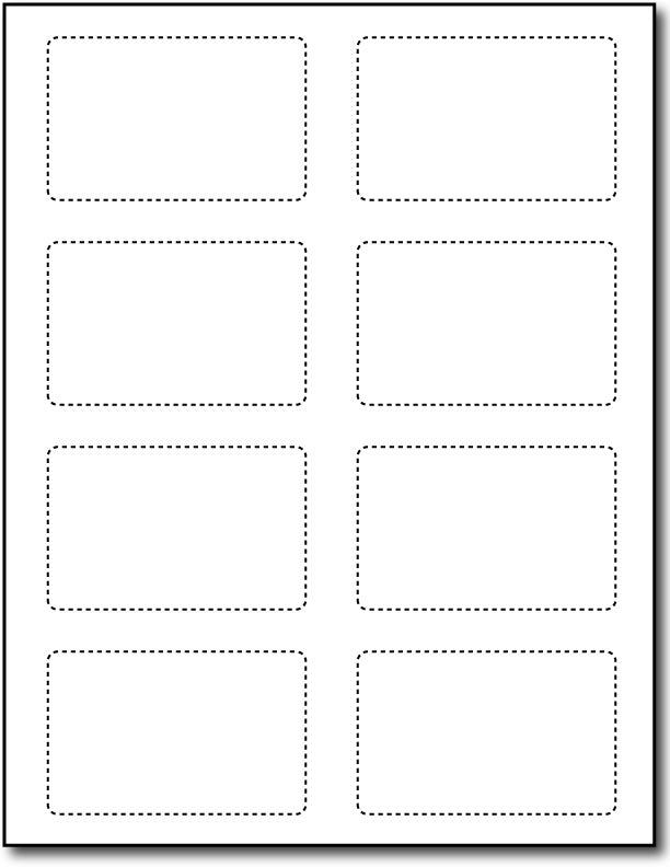 "2 1/8"" x 3 3/8"" Cardstock - 80lb Cover - (Credit Card Size)"