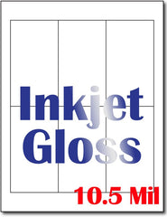 "10.5 mil Inkjet Gloss prayer card  , measure(8 1/2"" x 11""), compatible with inkjet, full gloss"
