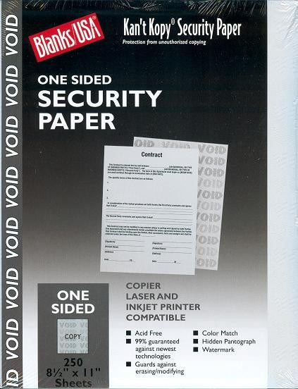 "60 lb Grey Security Prescription paper, measure (8 1/2"" x 11"") , compatible with copier,inkjet and laser , matte both sides"