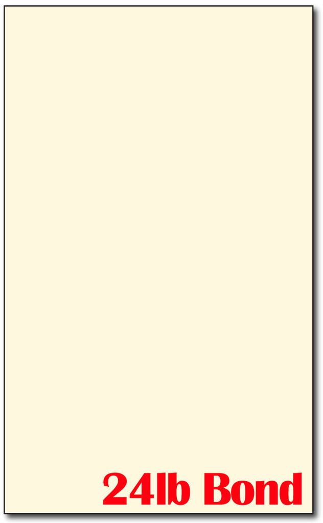 Legal Cardstock Cream / 24lb Bond | (8 1/2 X 14)