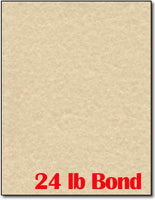 "24 lb Bond Brown Parchment, measure(8 1/2"" x 11"" ), compatible with inkjet and laser"