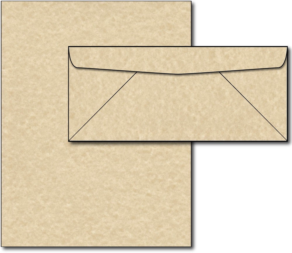 Brown Parchment Paper & Envelopes - 40 Sets, Inkjet and Laser Printer Compatible