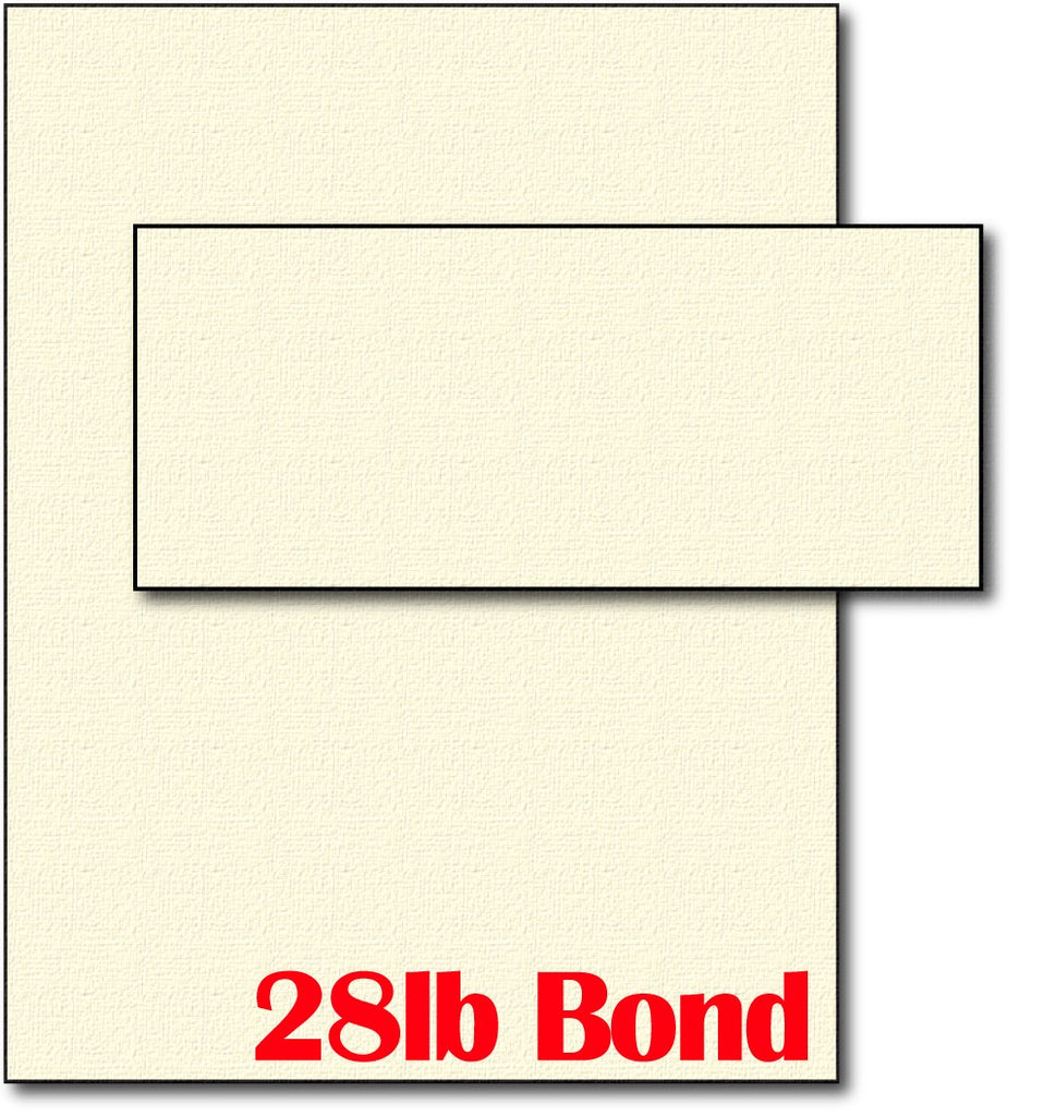 28lb Bond Cream Linen Paper & Envelopes - 40 Sets