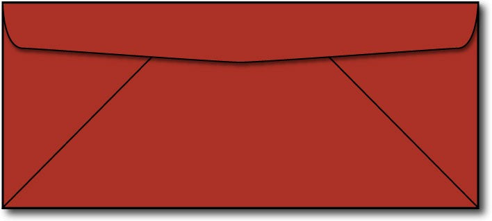 24lb, #10 Red Business Envelopes.