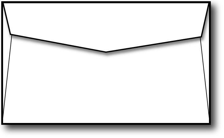 "Note Card Envelopes - 5"" x 3.625"" - Thickness: 70lb Text"