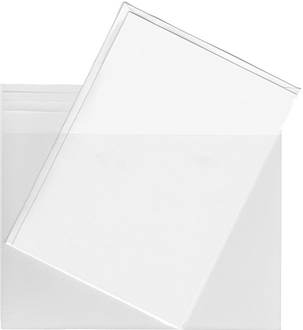 A6 Clear Plastic Envelope Bags - 100 Envelopes