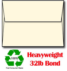 "32 lb Cream Envelopes, size A2, measure(4 3/8"" x 5 3/4""), compatible with copier, inkjet and laser, matte both sides"
