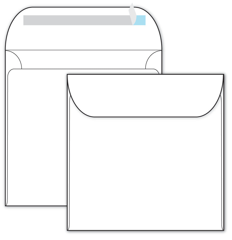 "Self Seal Envelopes - 5 1/2"" x 5 1/2"" - (70lb Text)"