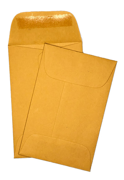 "Coin Envelopes - 2 1/4"" x 3 1/2"" - 28lb Bond (Golden Kraft)"