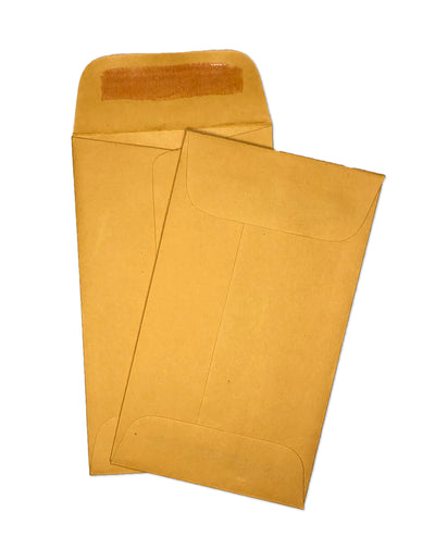 "Coin Envelopes - 2 1/2"" x 4 1/4"" - 28lb Bond (Golden Kraft)"
