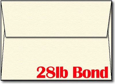"24lb Linen Cream A7 5 1/4"" x 7 1/4"" Envelope."