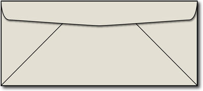 24lb, #10 Grey Business Size Envelopes.