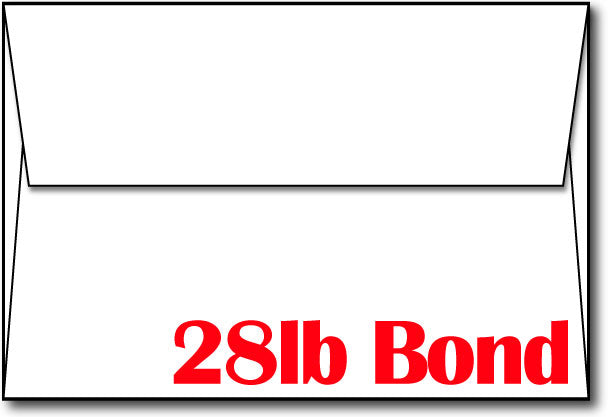 "A8 White Envelopes - 5 1/2"" X 8 1/8"" - (28lb Bond)"