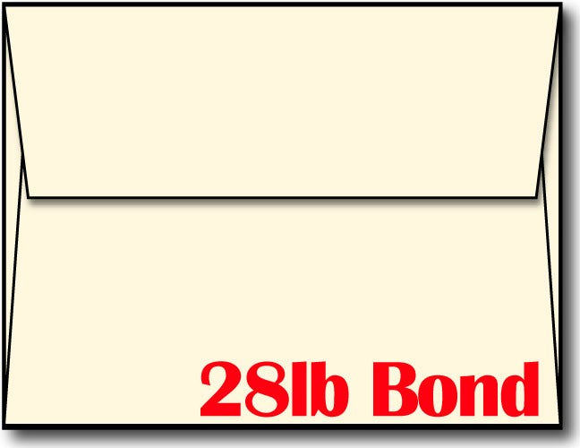 "32lb Cream Envelope, size A2, measure (4 3/8"" x 5 3/4"") , compatible with inkjet and laser, Matte Both sides"