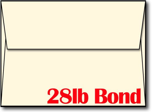 "28lb Cream Envelope, size A6, measure (4 3/4"" x 6 1/2"") , compatible with  inkjet and laser, Matte Both sides"