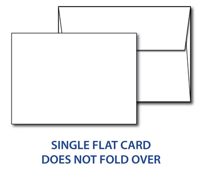 "5""x 7"" Cardstock with Envelopes - (100lb Cover)"