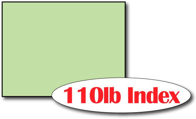 "Single Flat Cards, 4 1/4"" x 5 1/2"" Green - 1000 Flat Cards"