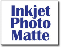 "Single Flat Cards, 4 1/4"" x 5 1/2"" Inkjet Photo Matte - 1000 Cards"