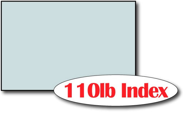 "110lb Index Blue 4"" x 6"" Cards - 500 Flat Cards"