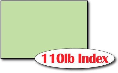 "110lb Index Green 4"" x 6"" Cards - 500 Flat Cards"