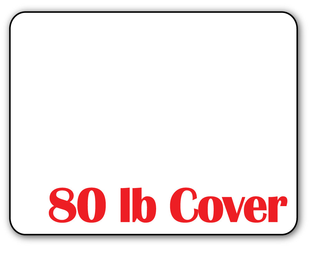 "4 1/4"" x 5 1/2"" Cardstock - 80lb Cover - (Rounded Corners)"