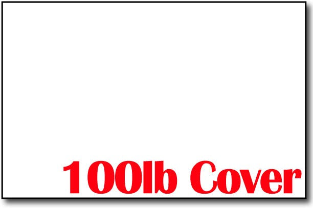 "Single Flat Cards, 5 1/2"" x 8 1/2"" 100lb Cover White - 400 Flat Cards"