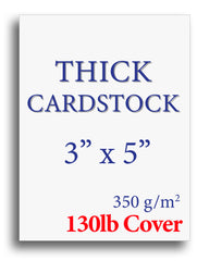 "Extra Thick Cardstock - 3"" x 5"" - 130lb Cover"