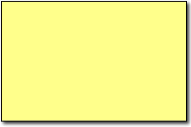 "Single Flat Cards, 5 1/2"" x 8 1/2"" Yellow - 500 Flat Cards"