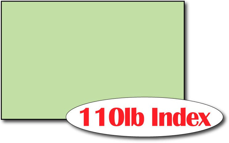 "Single Flat Cards, 5 1/2"" x 8 1/2"" Green - 500 Flat Cards"