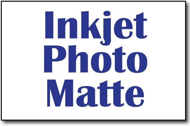 "Single Flat Cards, 5 1/2"" x 8 1/2"" Inkjet Photo Matte - 500 Cards"