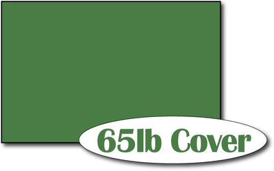 "Single Flat Cards, 5 1/2"" x 8 1/2"" Holiday Green - 500 Flat Cards"