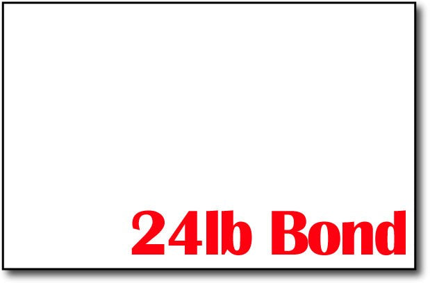 "Bright White 24lb Bond 5 1/2"" x 8 1/2"" Sheets (Half Letter Size) - 500 Sheets"
