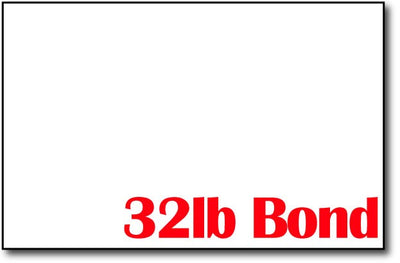 "Bright White 32lb Bond 5 1/2"" x 8 1/2"" Sheets (Half Letter Size) - 500 Sheets"