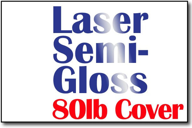 "Single Flat Cards, 5 1/2"" x 8 1/2"" Laser Semi Gloss - 500 Flat Cards"