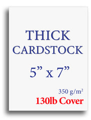 "Extra Thick Cardstock - 5"" x 7"" - 130lb Cover"