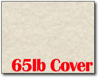 "Single Flat Cards, 4 1/4"" x 5 1/2"" 65lb Natural Parchment - 1000 Flat Cards"