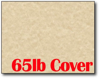 "Single Flat Cards, 4 1/4"" x 5 1/2"" 65lb Brown Parchment - 1000 Flat Cards"